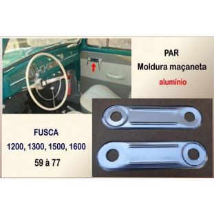 Acessório Protetor Moldura Maçaneta Fusca Alumínio - Par