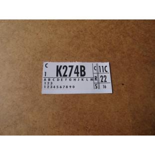 Adesivo Do Motor V8 302 K274B Maverick Mustang Landau F-100