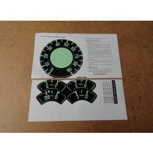 Adesivos do Relógio do Painel Velocímetro Óleo Bagre 54 à 55 - Jogo