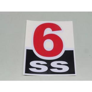 Adesivo SS6 do Paralama Opala SS 6cc