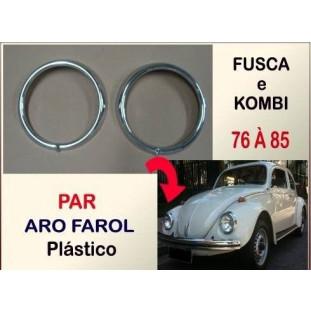 Aro Farol Fusca Kombi 76 à 85 Plástico - Par
