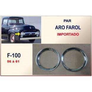 Aro Farol F-100 56 à 61 Inox Importado - Par