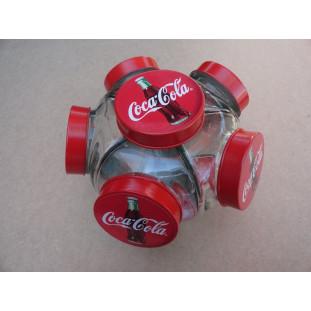 Baleiro Vidro Temático Coca Cola Giratório Médio Novo