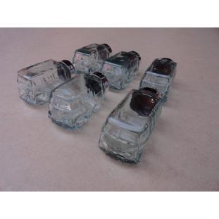 Baleiro Decorativo Presente Mini Kombi Miniatura Vidro Kit com 6