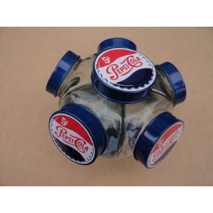 Baleiro Vidro Temático Pepsi Cola Giratório Médio Novo