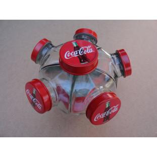 Baleiro Vidro Temático Coca Cola Giratório Pequeno Novo