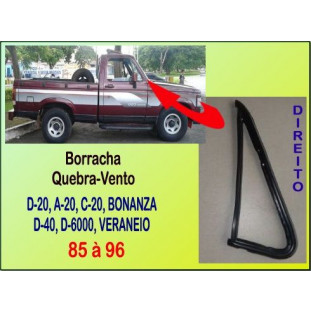 Borracha Quebra-Vento D-20, Bonanza, Veraneio 85 à 96 Direito