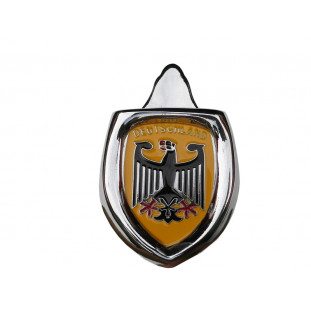 Brasão Emblema Capô com Moldura Deutschland Amarelo Fusca até 1966