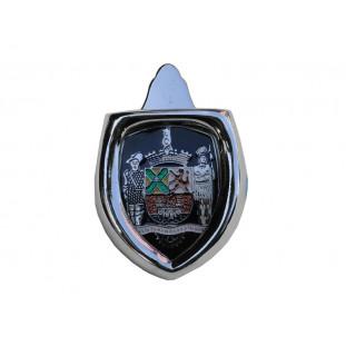 Brasão Emblema Capô com Moldura Paulistarum Preto Fusca Até 1966