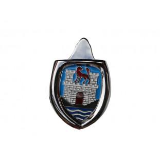 Brasão Emblema Capô com Moldura Wolfsburg Azul Fusca até 1966