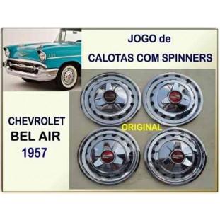 Calota Com Spinners Chevrolet 57 Original Jogo