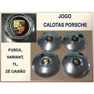 Calota Porsche Encaixe Calombo - Jogo