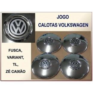 Calota VW Adesivado Encaixe Calombo - Jogo
