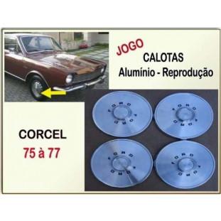 Calotas Ford Corcel l Belina l 75 à 77 Alumínio Reprodução - Jogo