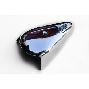 Capa de Metal Cromado do Pisca Dianteiro Fusca 65 à 70 Sorriso Curto Unitário