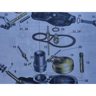 Carburador Zenith Esquema de Peças