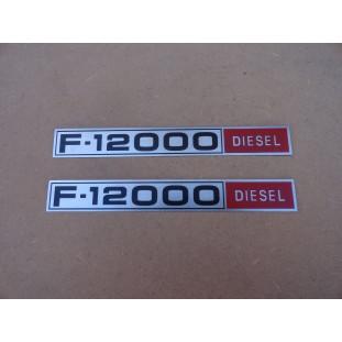 Emblema Lateral Chapinha Logo F-12000 Diesel 80 a 82 Nova - Par