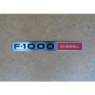 Emblema Lateral F-1000 Diesel Chapinha Logo F-1000 Diesel 1980 a 1982