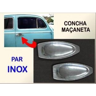 Concha Maçaneta Saboneteira até 77 Inox - Par