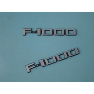 Emblemas F-1000 83 à 92 - Par