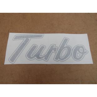 Emblema Adesivo Turbo F-1000 93 à 98 Prata