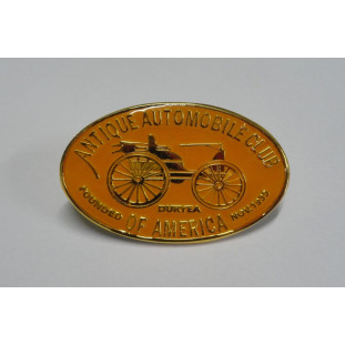 Emblema Antique Automobile Club of America Laranja + Dourado