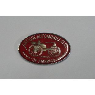 Emblema Antique Automobile Club of America Vermelho+Prata