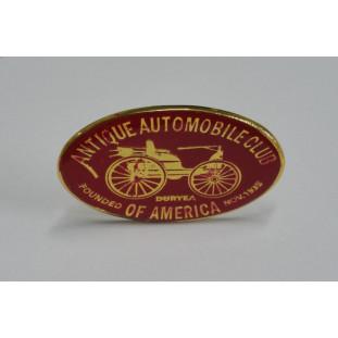 Emblema Antique Automobile Club of America Vermelho+Dourado