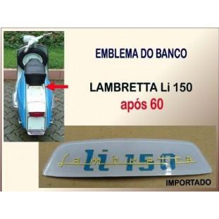 Emblema Banco Lambretta LI 150 após 60 Acrílico
