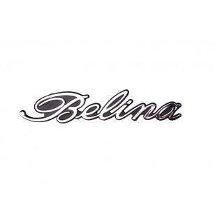 Emblema Belina I e II Manuscrito Plástico Cromado Unitário