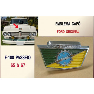 Emblema Capô F-100 Passeio 65 à 67 Original