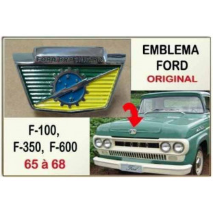Emblema Capô F-100 65 à 68 Original