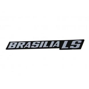 Emblema Brasilia LS Painel Traseiro Vw Brasilia LS 1979 a 1982 Novo