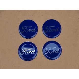 Emblema Calota Adesivo Ford Resinado 48mm - Jogo C/ 4