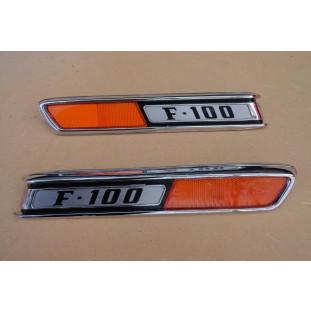 Emblema Lateral Capô F-100 72 À 79 Original Par
