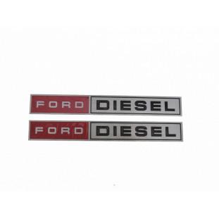 Chapinha Logo Lateral Ford Diesel Caminhões Antigos Par