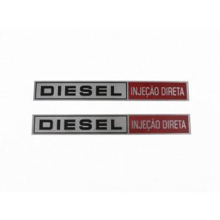 Chapinha Emblema Caminhão Ford Diesel Injeção Direta Par