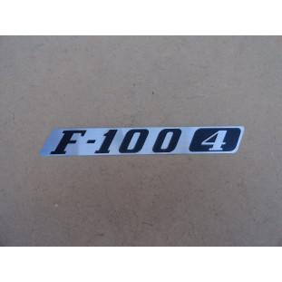 Emblema F-100 4 Cilindros 1976 a 1979 Emblema Lateral Direita Capô