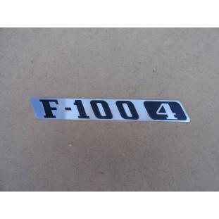 Emblema F-100 4 Cilindros 1976 a 1979 Emblema Lateral Esquerda Capô