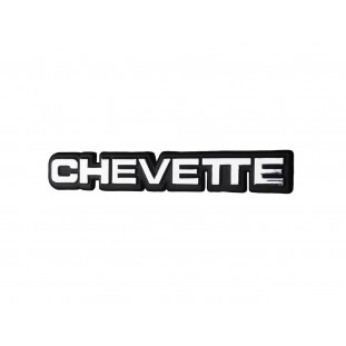 Emblema Chevette 1983 em Diante Plástico 17cm Cromado Novo
