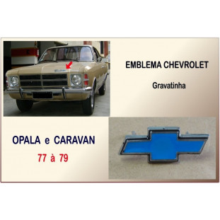 Emblema Chevrolet Gravatinha Opala e Caravan 77 à 79 Cromado