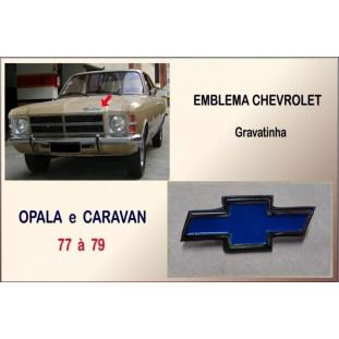 Emblema Chevrolet Gravatinha Opala e Caravan 77 à 79 Cromado com Preto