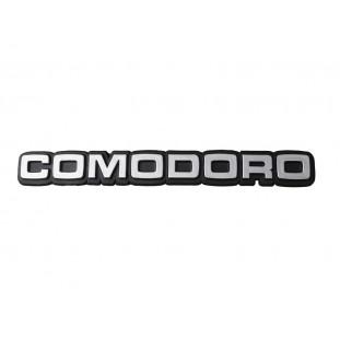 Emblema Comodoro Opala e Caravan 1980 a 1990 Prata Plástico