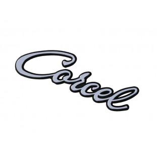 Emblema Corcel Manuscrito Corcel I Belina I até 1977 Plástico Unitário