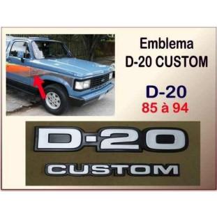 Emblema D-20 Custom 85 à 94