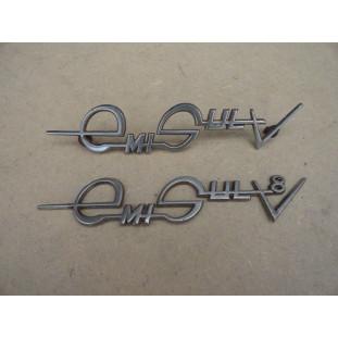 Emblema Emisul V8 Simca Original Usado Par