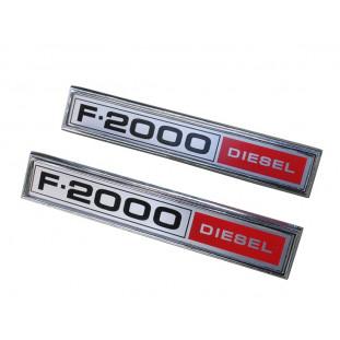 Emblema Lateral Ford F-2000 Diesel 1980 a 1982 Novo - Par