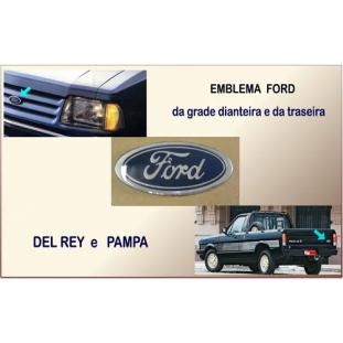 Emblema Ford Oval Pequeno