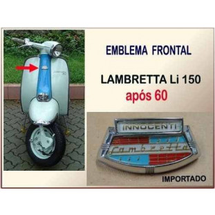 Emblema Frontal Lambretta LI 150 após 60 Italiana Importado