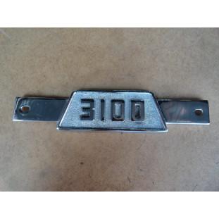 Emblema 3100 Grade Dianteira Chevrolet Brasil 58 a 62 Usado Original